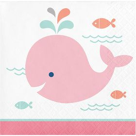 Lil Spout Pink Beverage Napkins (16 Count)