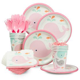 Lil' Spout Pink Standard Tableware Kit (Serves 8)