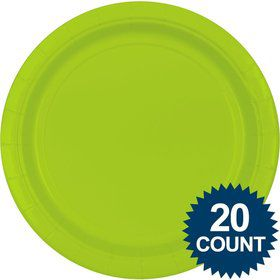 "Lime 10"" Paper Plates, 20 ct."