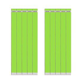 "Lime 3/4"" Paper Wristbands (100 Count)"