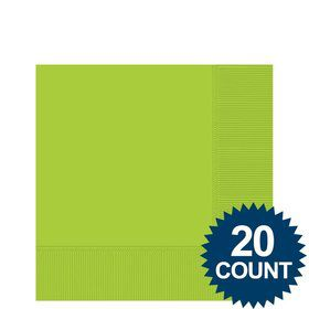 Lime 3-Ply Beverage Napkins, 20 ct.