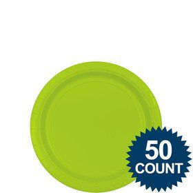 "Lime 7"" Paper Plate, 50 ct."