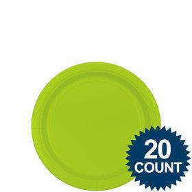 "Lime 7"" Paper Plates, 20 ct."
