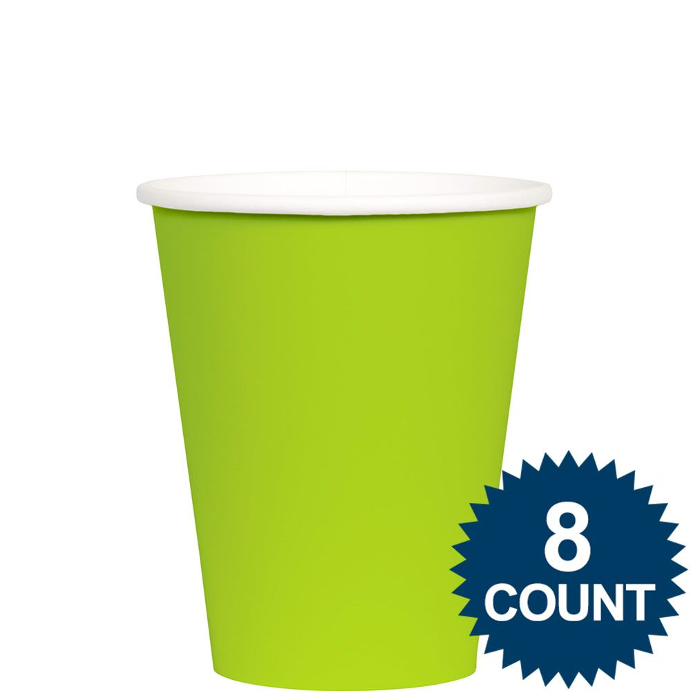 Lime 9 oz. Paper Cup, 8ct. - Party Supplies BB100153