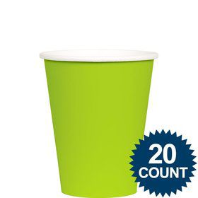 Lime 9 oz. Paper Cups, 20 ct.