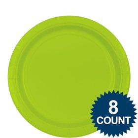 "Lime 9"" Paper Plate, 8ct."