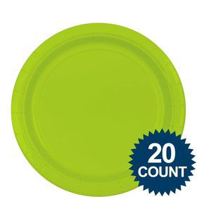 "Lime 9"" Paper Plates, 20ct"