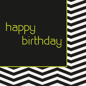 Lime/Black Chevron Luncheon Napkins (16 Pack)