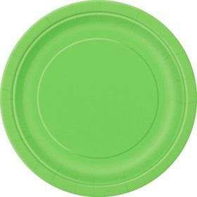 Lime Cake Plates (20 Count)
