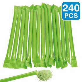 "Lime Candy Filled 6"" Straws (240 Pack)"