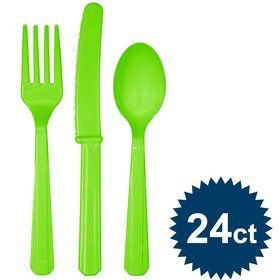 Lime Cutlery Set