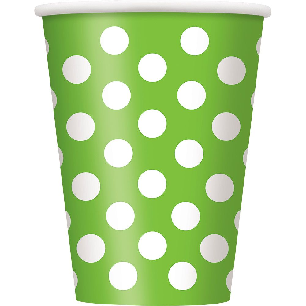 Lime Dots 12Oz Cups (6 Pack) BB37466