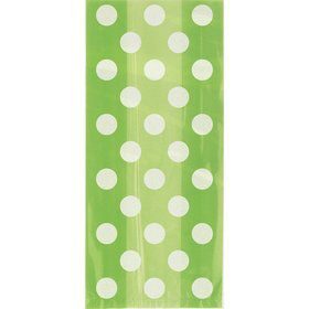 Lime Dots Cello Favor Bags (20 Pack)