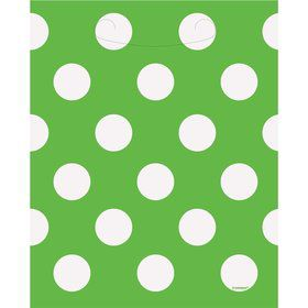 Lime Dots Loot Bags (8 Count)