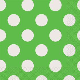 Lime Dots Luncheon Napkins (16 Count)