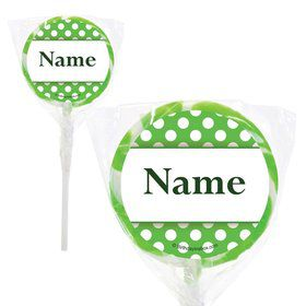 "Lime Dots Personalized 2"" Lollipops (20 Pack)"