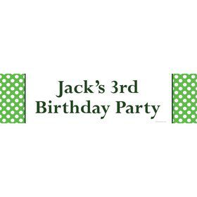 Lime Dots Personalized Banner (Each)