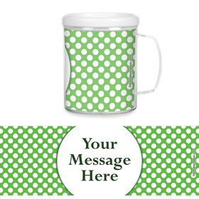 Lime Dots Personalized Favor Mugs (Each)