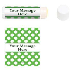 Lime Dots Personalized Lip Balm (12 Pack)