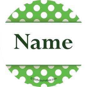 Lime Dots Personalized Mini Stickers (Sheet of 20)