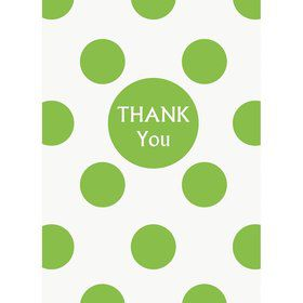 Lime Dots Thank You Notes (8 Pack)