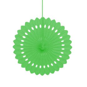 "Lime Green 16"" Decorative Fan Decoration (Each)"