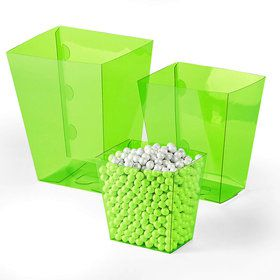Lime Green Candy Buffet Containers (6 Count)