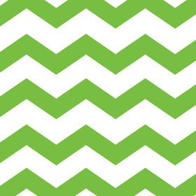 Lime Green Chevron & Dots Luncheon Napkins (16 Count)