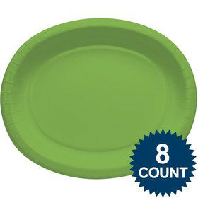 Lime Heavy Duty Paper Oval Platter (8 Pack)