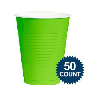 Lime Plastic 12 oz. Cup, 50 ct.