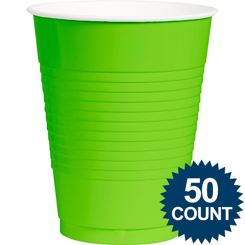 Lime Plastic 16 Oz. Cup, 50 Ct. BB100108