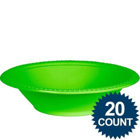 Lime Plastic Bowls, 12 oz. (20 count)