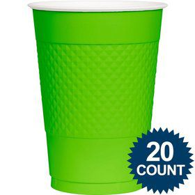 Lime Plastic Cups, 16 Oz. (20 Ct.)