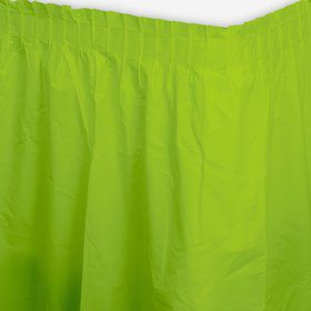 Lime Plastic Table Skirt