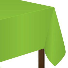 "Lime Plastic Tablecover, 54""-108"""