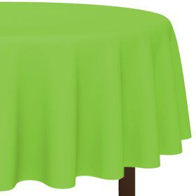 Lime Round Plastic Tablecover, 84""