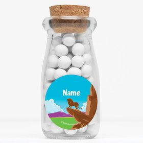 "Lion Kingdom Personalized 4"" Glass Milk Jars (Set of 12)"