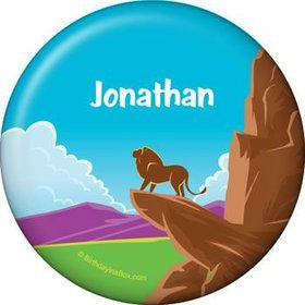 Lion Kingdom Personalized Button (each)