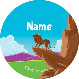 Lion Kingdom Personalized Mini Stickers (Sheet of 20)