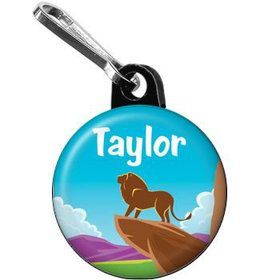 Lion Kingdom Personalized Mini Zipper Pull (each)