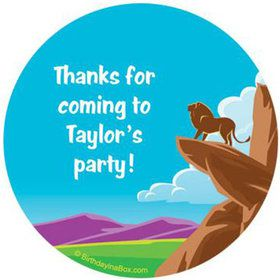 Lion Kingdom Personalized Stickers (sheet of 12)