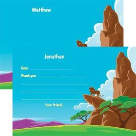 Lion Kingdom Personalized Thank You Note (each)