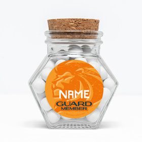 "Lion Pride Personalized 3"" Glass Hexagon Jars (Set of 12)"