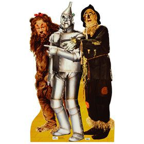 Lion, Tin Man and Scarecrow Standup - 6' Tall