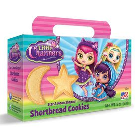 Little Charmers Shaped Shortbread Cookies 2oz Box(Each)