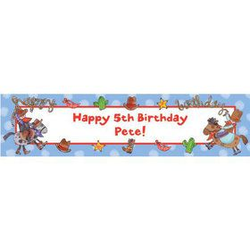Little Cowboy Party Personalized Banner (each)