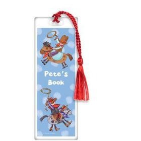 Little Cowboy Party Personalized Bookmark (each)