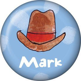 Little Cowboy Party Personalized Mini Button (Each)