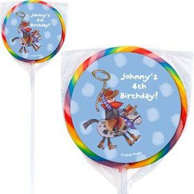 Little Cowboy Personalized Lollipops (pack of 12)