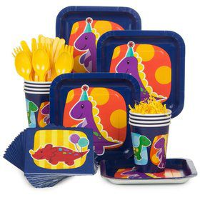 Little Dino Party Standard Tableware Kit Serves 8
